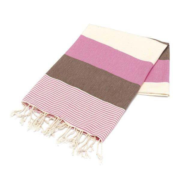 Ręcznik hammam American Stripes Pink, 100x180 cm