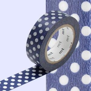 Taśma dekoracyjna washi Dot Blue Base