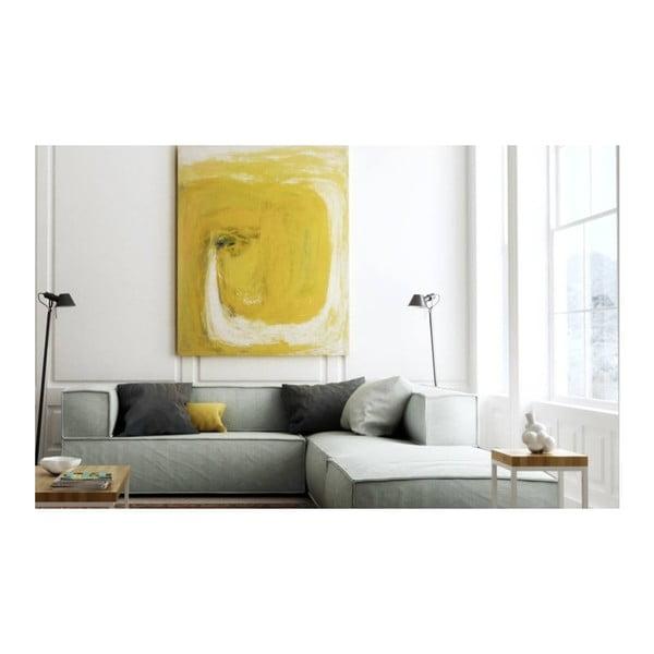 Duża jasnoszara sofa narożna Absynth Noi