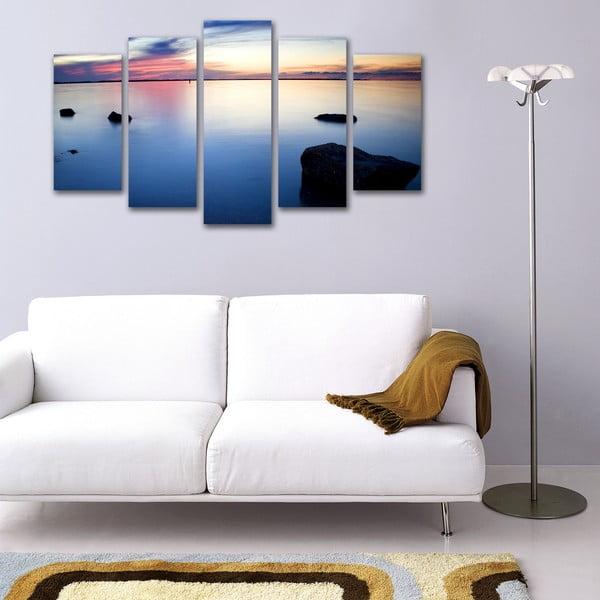 Pięcioczęściowy obraz Spokojne Morze
