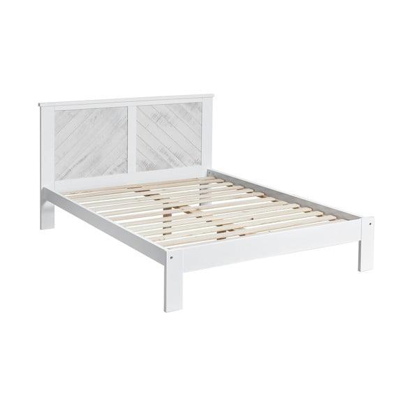 Białe łóżko 2-osobowe Marckeric Roma, 140x190 cm