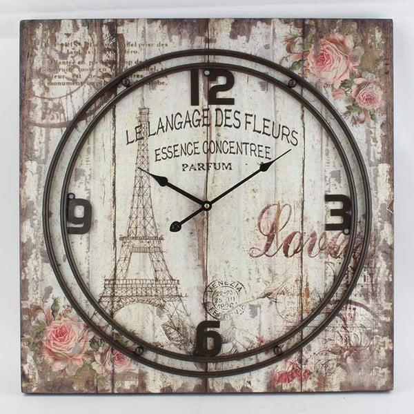 Zegar Metal Eiffel, 60x60 cm