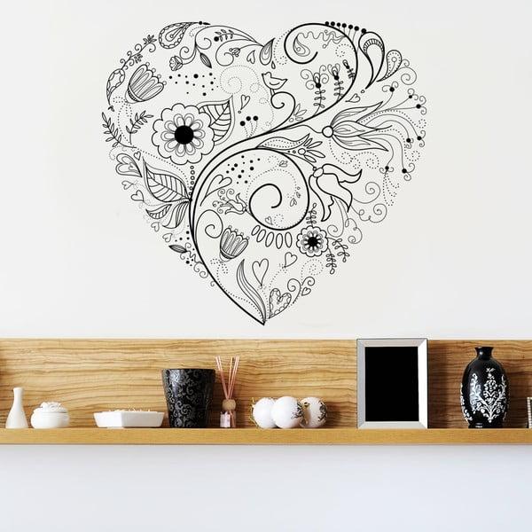 Naklejka dekoracyjna na ścianę Floral Heart