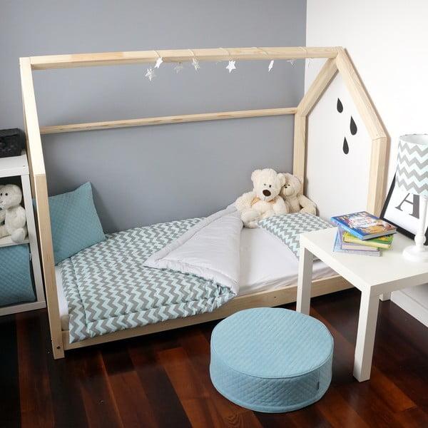 Drewniane łóżko dziecięce w kształcie domku Benlemi TERY, 60x120 cm