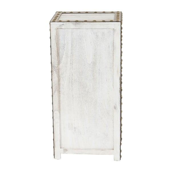 Biała szafka Mendler Shabby Ambato, 70x33x26 cm
