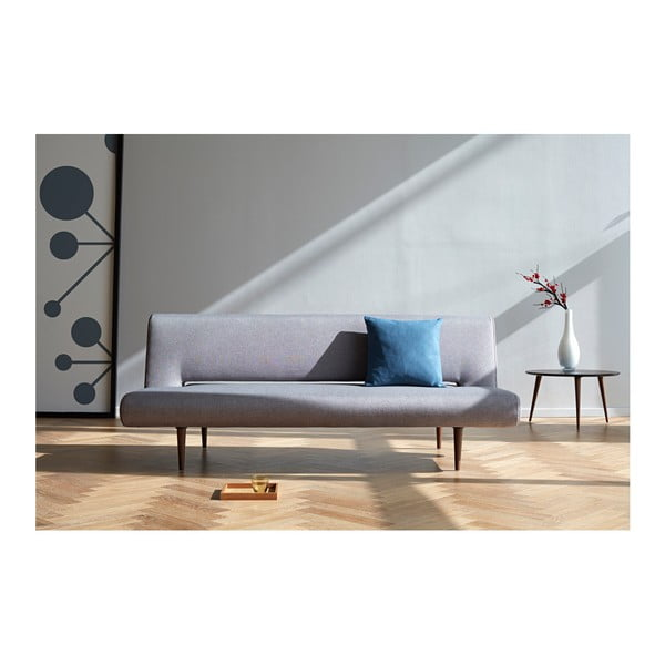 Szara sofa rozkładana Innovation Unfurl Flashtex Light Grey