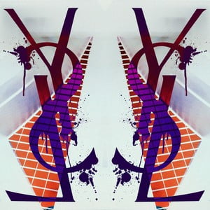 Obraz Boutique Geometric White, 30x30 cm