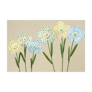 Zestaw 3 papierowych kwiatów dekoracyjnych Boltze Dots
