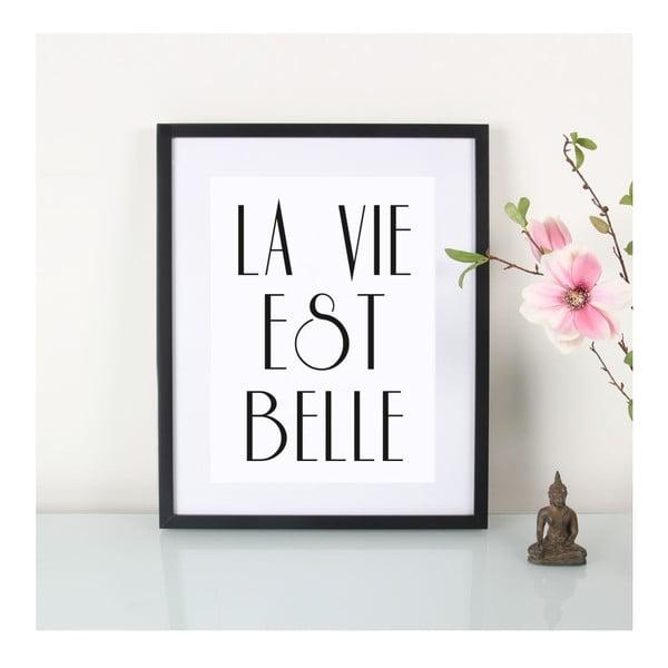 Plakat La vie est belle, A3