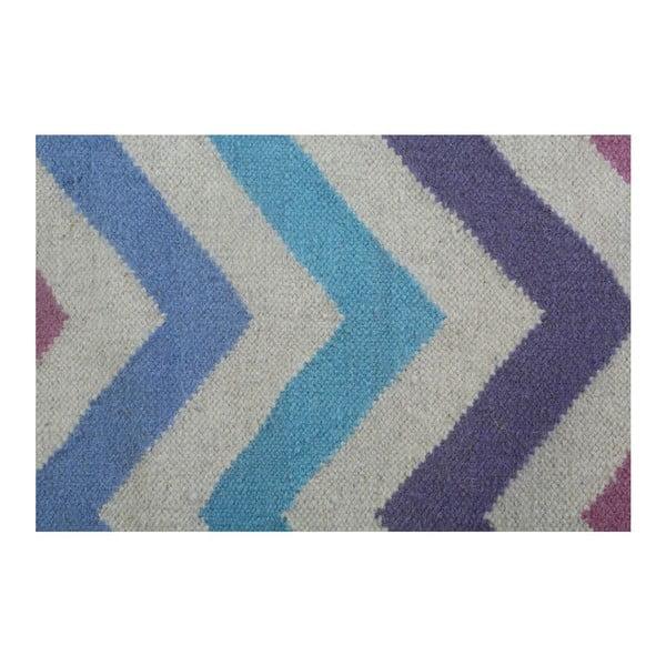 Dywan wełniany Geometry Zic Zac Pink Mix, 160x230 cm