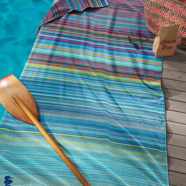Niebieski ręcznik Seahorse Sunset,100x200cm