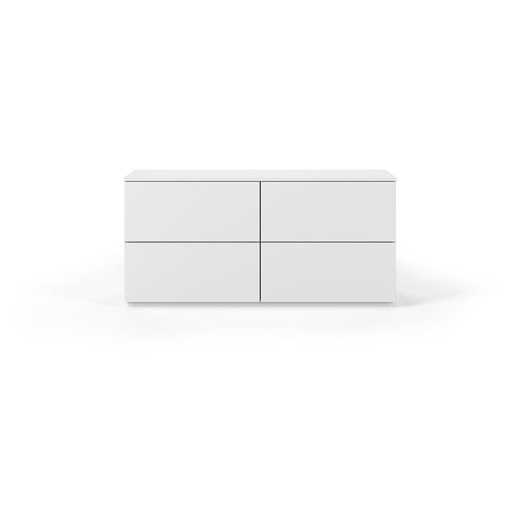 Biała komoda z 4 szufladami TemaHome Join