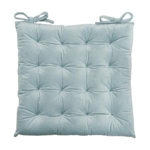 Poduszka na krzesło Velour Gray Blue, 40x40 cm