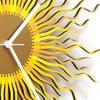 Zegar drewniany Medusa, złoty, 41 cm