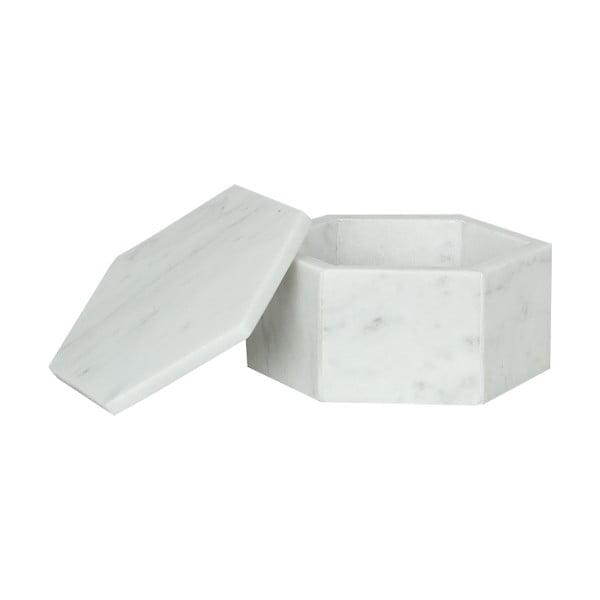 Marmurowe pudełka Signe White, 11 cm