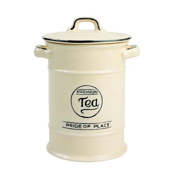 Kremowy pojemnik porcelanowy na herbatę T&G Woodware Pride of Place