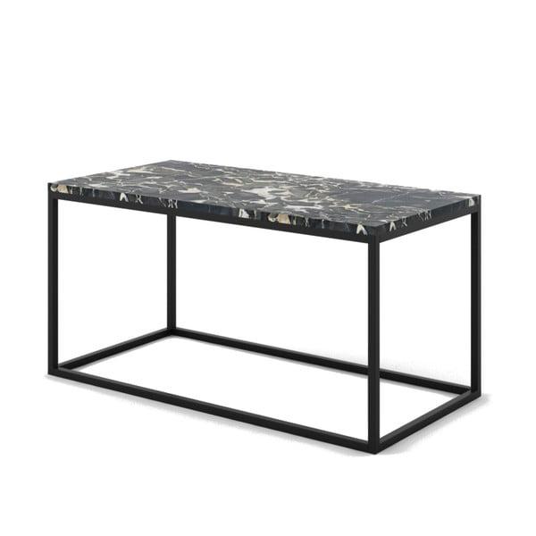 Czarny stolik z marmuru z czarną konstrukcją Absynth Noi Italy, duży