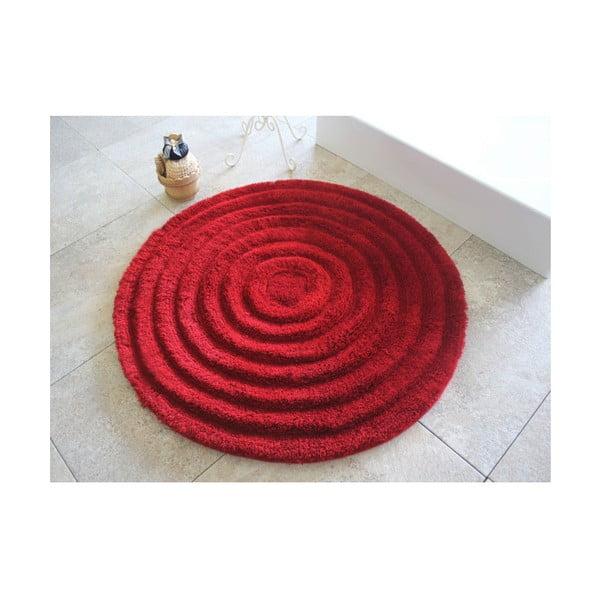 Dywanik łazienkowy Alessia Round Red, Ø 90 cm