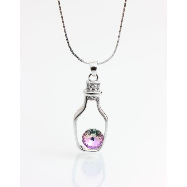 Naszyjnik z kryształami Swarovskiego Yasmine Bottle Pink