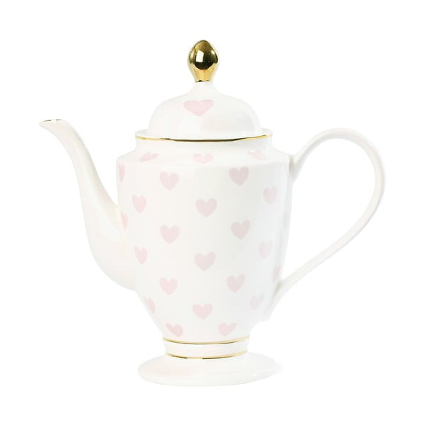 Dzbanek na herbatę z motywem serc