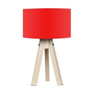 Lampa stołowa z czerwonym abażurem Kate Louise Naturel