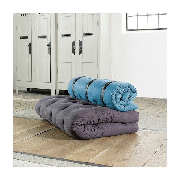 Sofa rozkładana Karup Buckle Up Gray/Horizon Blue
