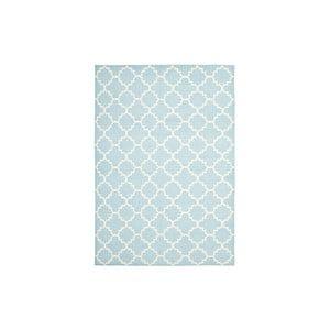 Wełniany dywan Darien 91x152 cm, jasnoniebieski