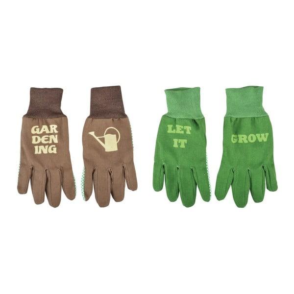 Zestaw 2 dwustronnych rękawic ogrodowych Esschert Design