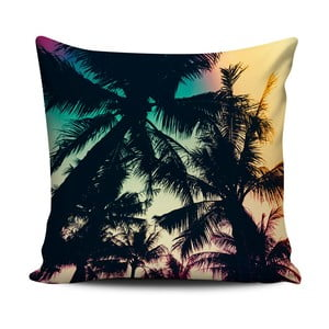 Ciemna poduszka Home de Bleu Tropical Palms, 43x43 cm