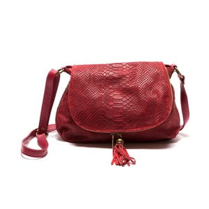 Czerwona skórzana torebka Sofia Cardoni Rosetta