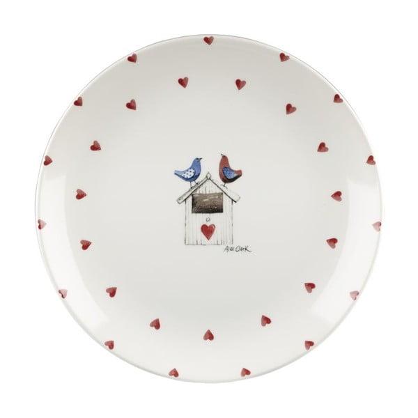 Zestaw 6 talerzy Churchill China Two Lovebirds, 26 cm
