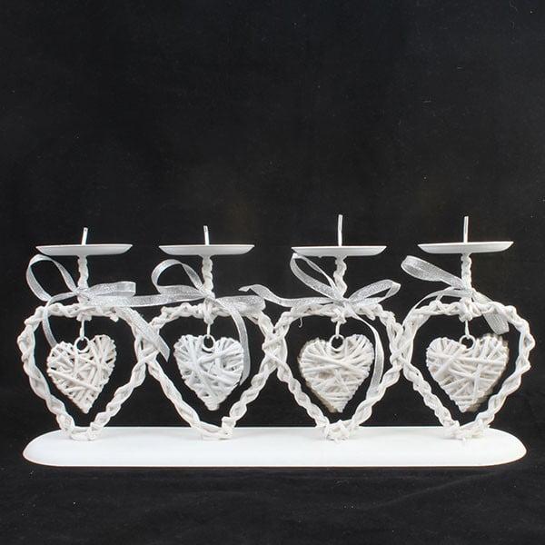 Świecznik z 4 sercami Dakls