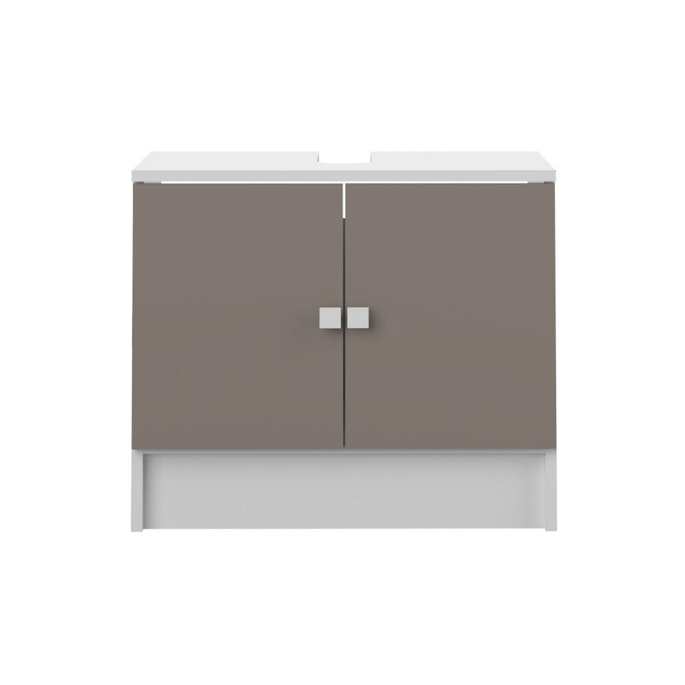 Szaro-brązowa szafka łazienkowa pod umywalkę TemaHome Combi
