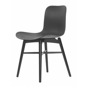 Czarne krzesło bukowe do jadalni NORR11 Langue Stained