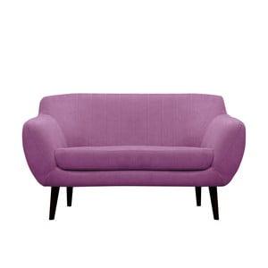 Fioletowa sofa dwuosobowa Mazzini Sofas Toscane