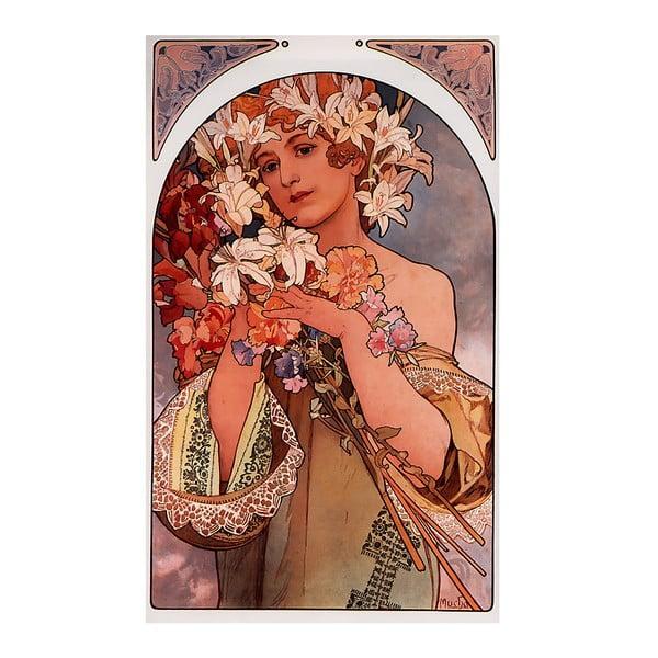 Reprodukcja obrazu Alfonsa Muchy - Flower, 40x70 cm