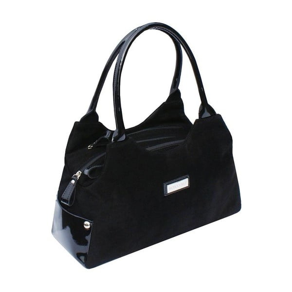 Skórzana torebka Boscollo Black 2110