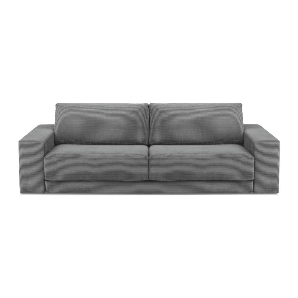 Szara 4-osobowa sofa rozkładana Milo Casa Donatella