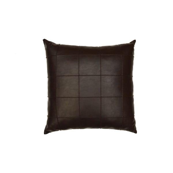Poduszka ze skóry wegańskiej Power 09, 45x45 cm