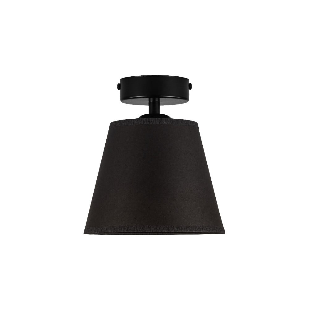 Czarna lampa sufitowa Sotto Luce IRO Parchment, ⌀ 16 cm