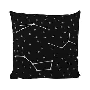 Poduszka Black Shake Star Constellations, 50x50 cm