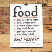 Plakat Food Rules 41x30 cm