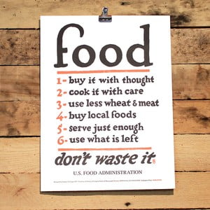 Plakat Food Rules 41x30 cm