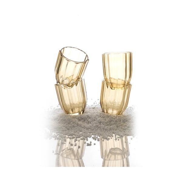 Zestaw 4 szklanek Soleil Amber