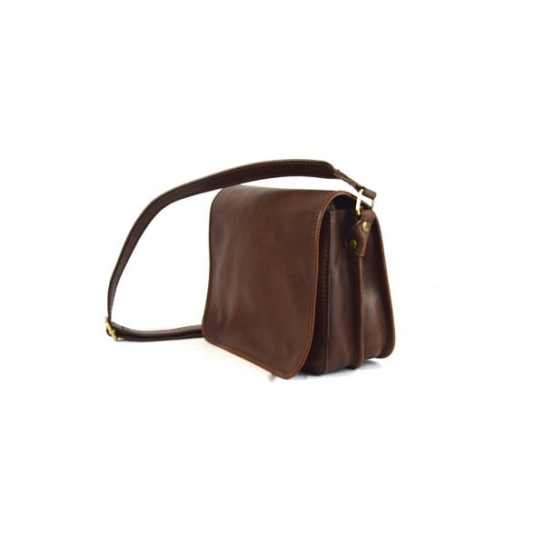 Skórzana torebka Santo Croce 8802 Dark Brown