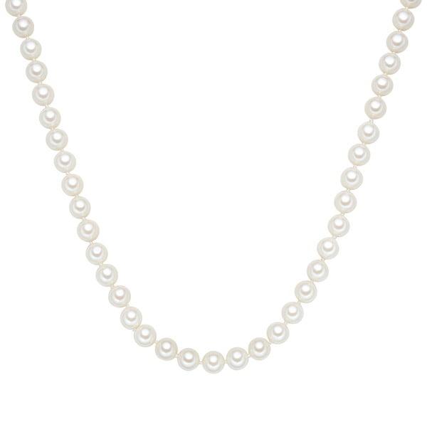 Perłowy naszyjnik Muschel, białe perły 8 mm, długość 60 cm