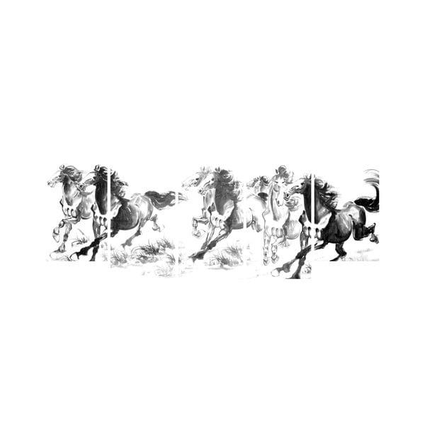 Wieloczęściowy obraz Black&White no. 30, 100x50 cm