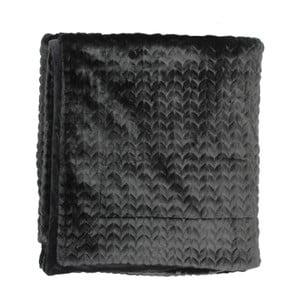 Czarny pled Essenza Faya Black, 150x200 cm