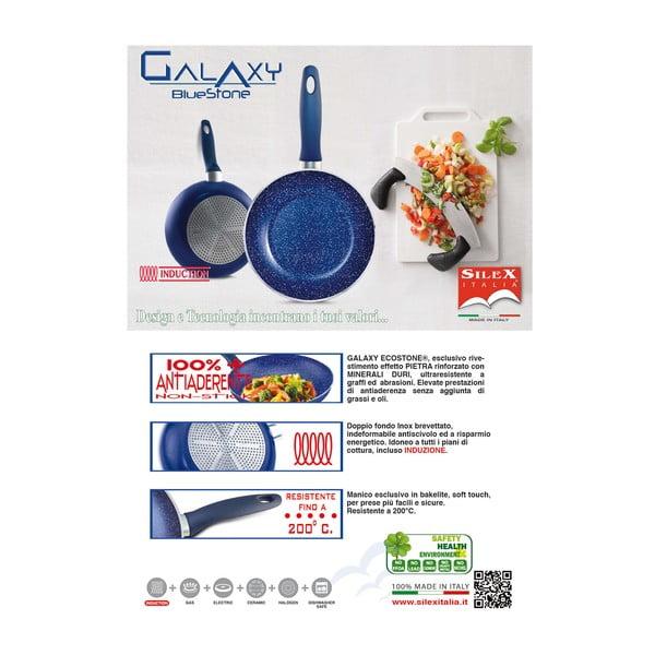 Zestaw rondel i 2 patelnie Silex Italia Galaxy