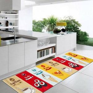 Wytrzymały dywan kuchenny Webtapetti Fastfood, 60x110 cm